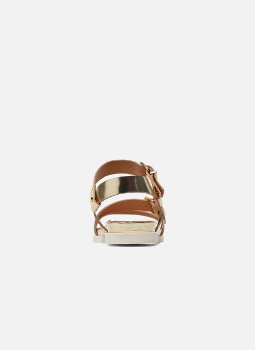 Sandales et nu-pieds Mellow Yellow Vindia Or et bronze vue droite