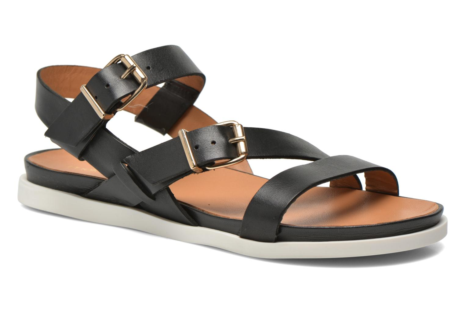 Sandals Mellow Yellow Vindia Black detailed view/ Pair view
