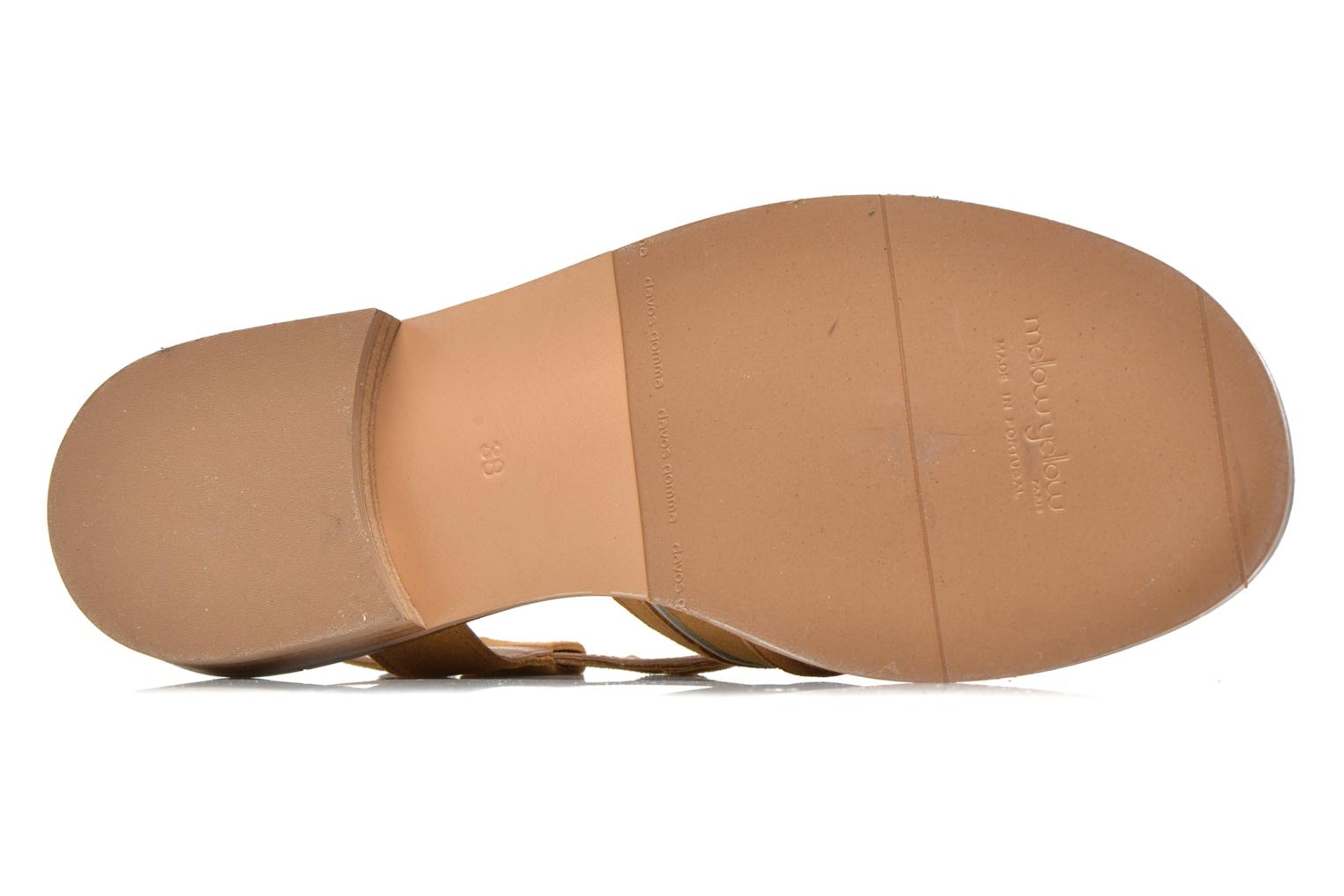 Sandals Mellow Yellow Vilma Beige view from above