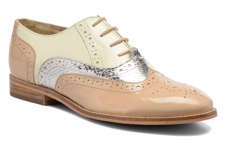 Chaussures à lacets COSMOPARIS Fadia/Ver Beige vue détail/paire