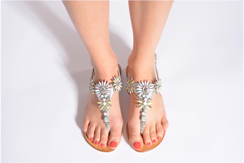 Sandales et nu-pieds COSMOPARIS Hirly/Met Argent vue bas / vue portée sac