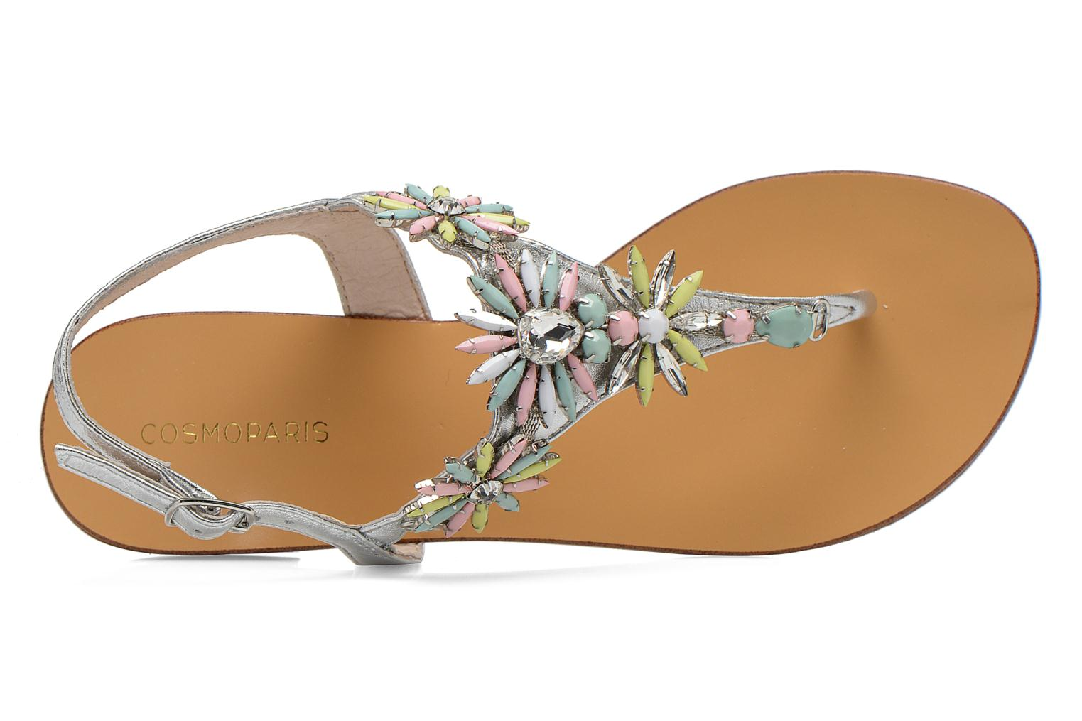 Sandals COSMOPARIS Hirly/Met Silver view from the left
