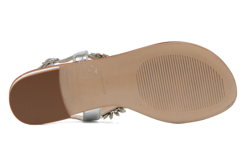 Sandales et nu-pieds COSMOPARIS Hirly/Met Argent vue haut