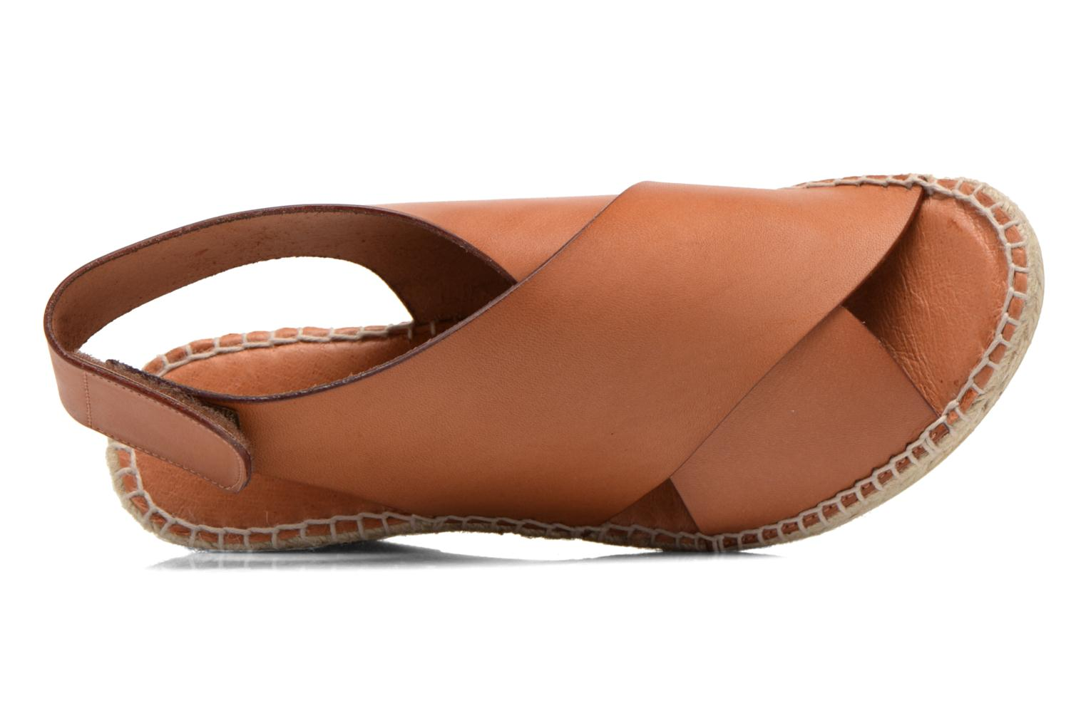 Sandals COSMOPARIS Ipia Brown view from the left