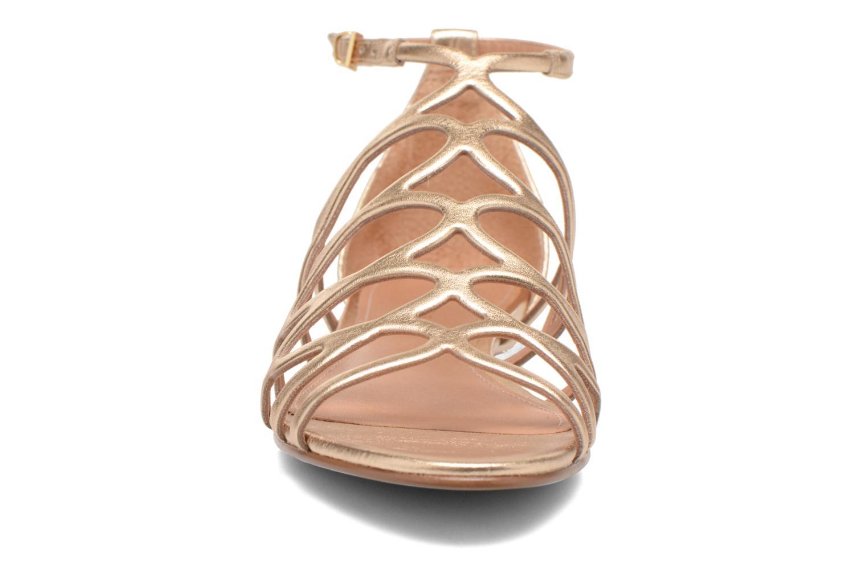 Sandales et nu-pieds COSMOPARIS Ariane Or et bronze vue portées chaussures