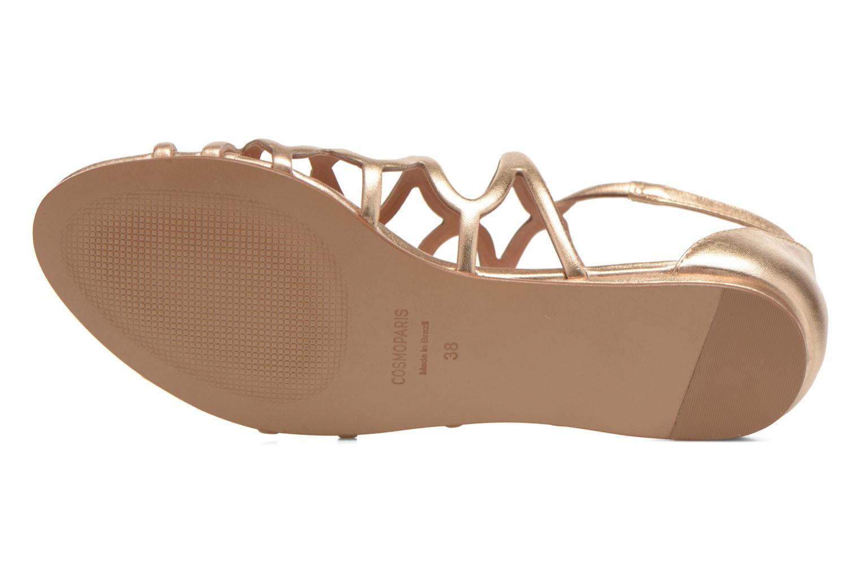 Sandales et nu-pieds COSMOPARIS Ariane Or et bronze vue haut