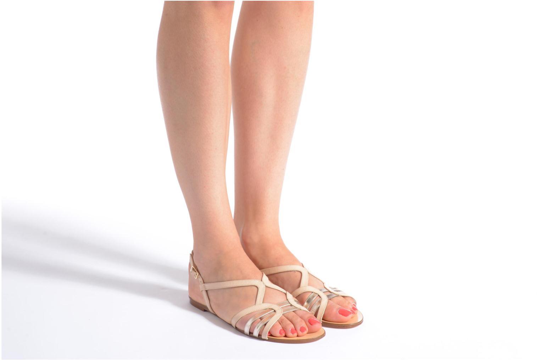 Sandales et nu-pieds COSMOPARIS Glaci Beige vue bas / vue portée sac