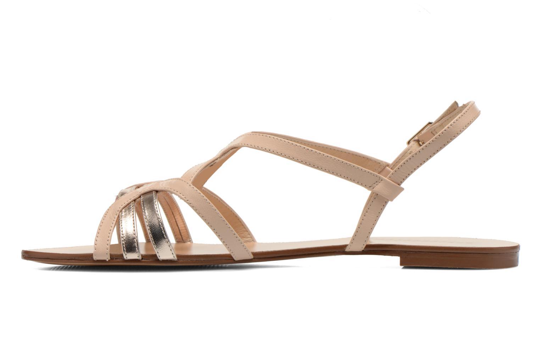 Sandales et nu-pieds COSMOPARIS Glaci Beige vue face