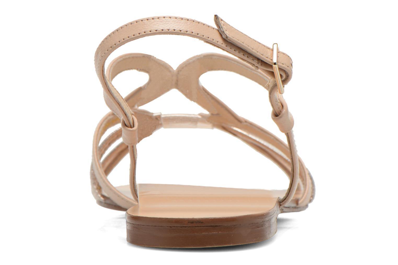 Sandales et nu-pieds COSMOPARIS Glaci Beige vue droite