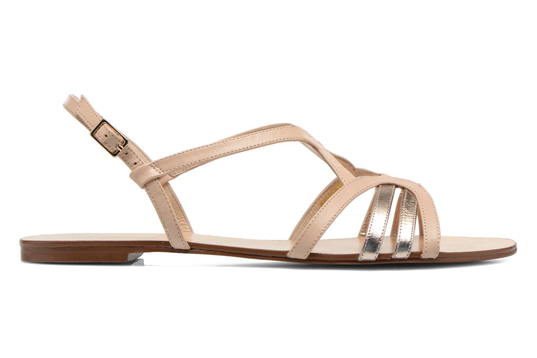 Sandales et nu-pieds COSMOPARIS Glaci Beige vue derrière