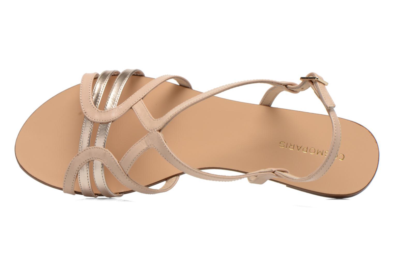 Sandales et nu-pieds COSMOPARIS Glaci Beige vue gauche