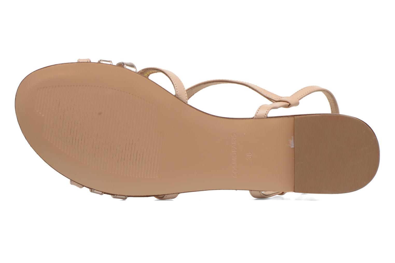 Sandales et nu-pieds COSMOPARIS Glaci Beige vue haut