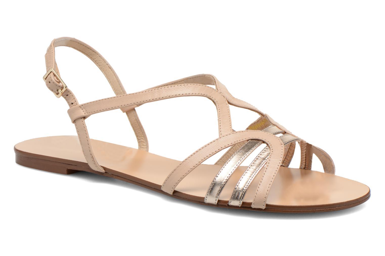 Sandales et nu-pieds COSMOPARIS Glaci Beige vue détail/paire