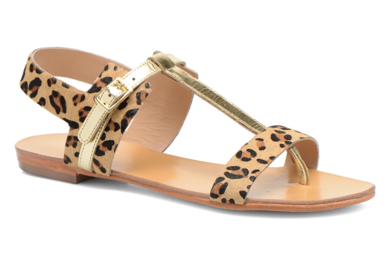 Sandales et nu-pieds COSMOPARIS Laya/pony Or et bronze vue détail/paire