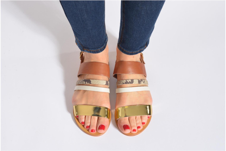 Sandals COSMOPARIS Lanea/bi Multicolor view from underneath / model view