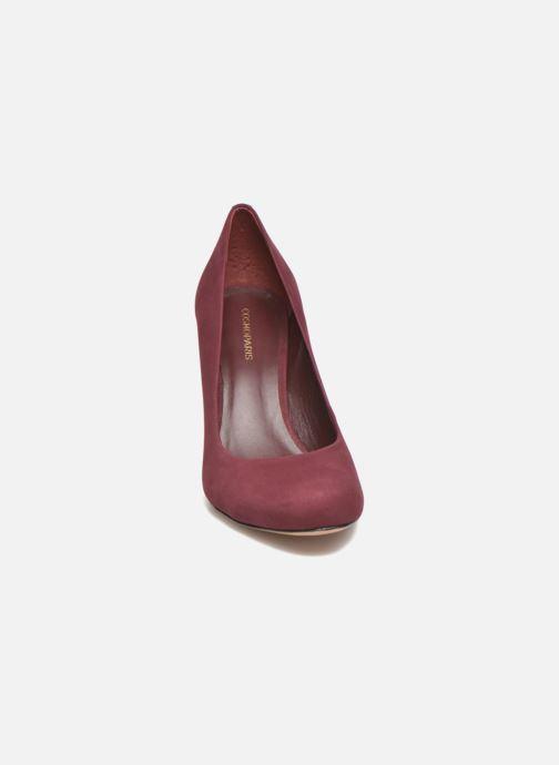 Escarpins COSMOPARIS Jelissa nub Bordeaux vue portées chaussures