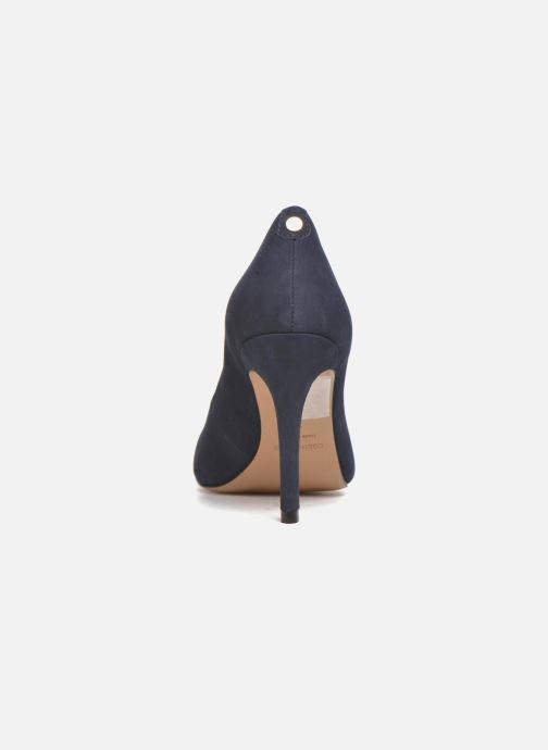 Zapatos de tacón COSMOPARIS Jelissa nub Azul vista lateral derecha