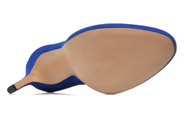 Zapatos de tacón COSMOPARIS Jelissa nub Azul vista de arriba