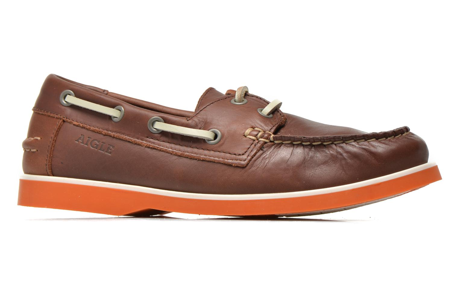 Lace-up shoes Aigle America Kid Brown back view