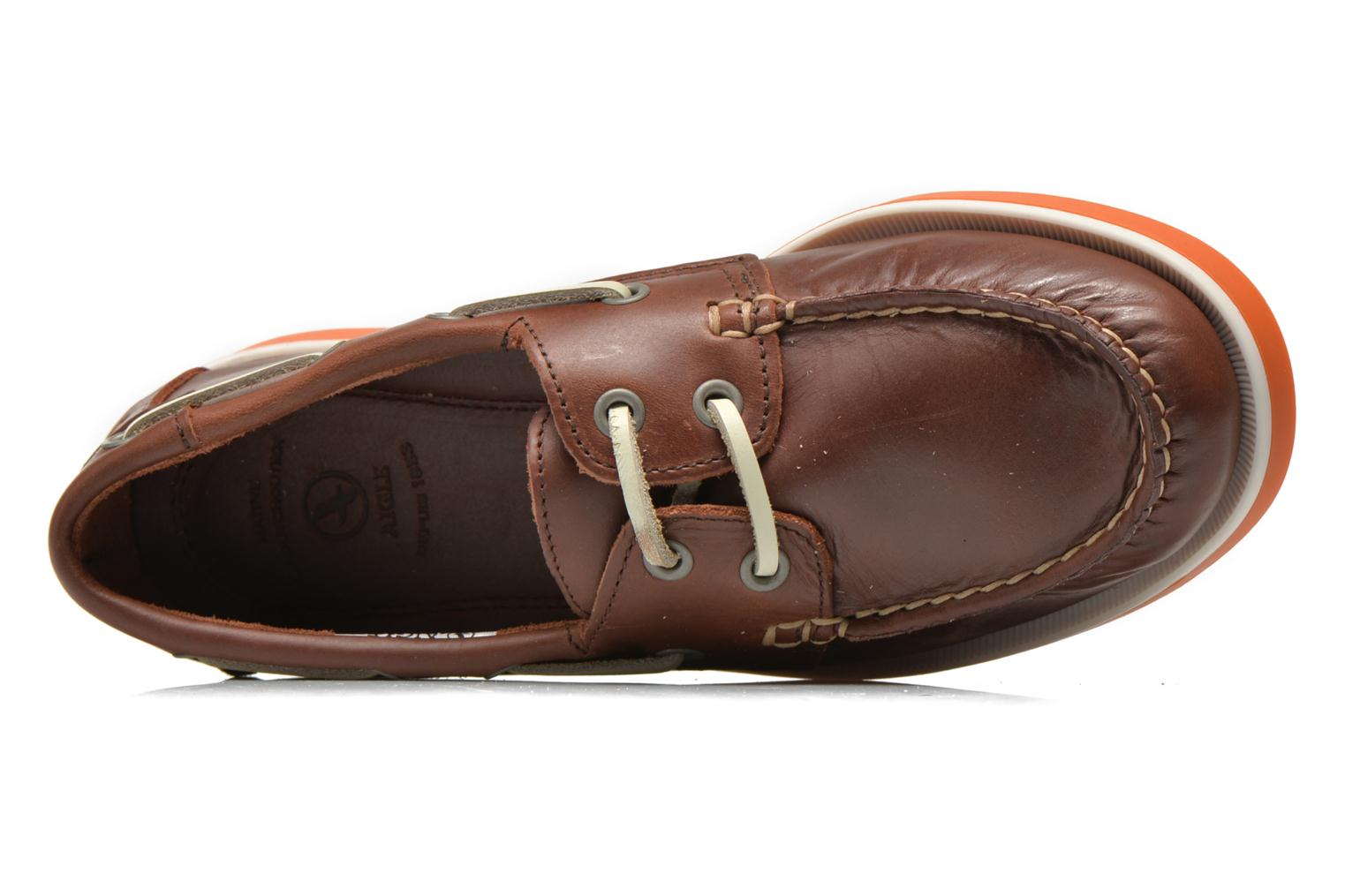 Lace-up shoes Aigle America Kid Brown view from the left