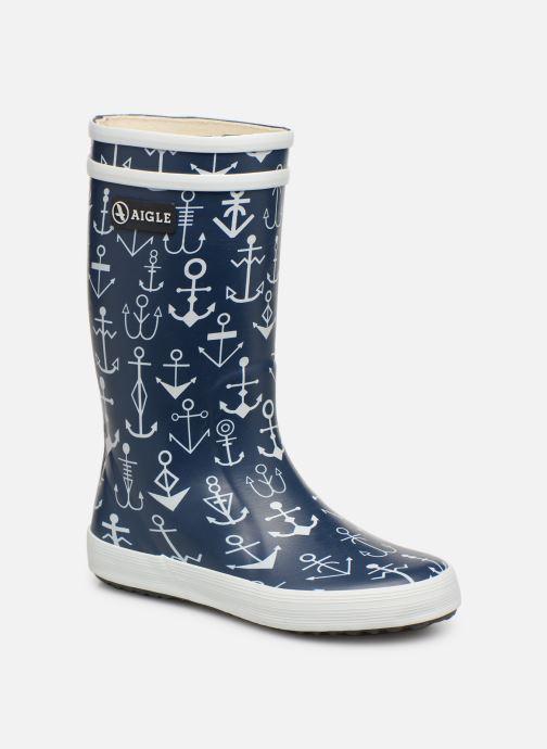 Støvler & gummistøvler Aigle Lolly Pop Kid Blå detaljeret billede af skoene