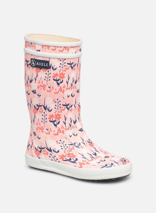Støvler & gummistøvler Aigle Lolly Pop Kid Pink detaljeret billede af skoene