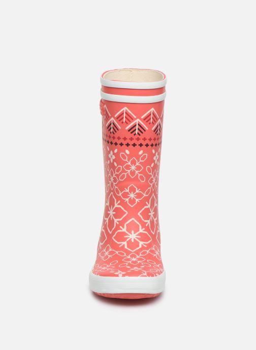 Stiefel Aigle Lolly Pop Kid rosa schuhe getragen
