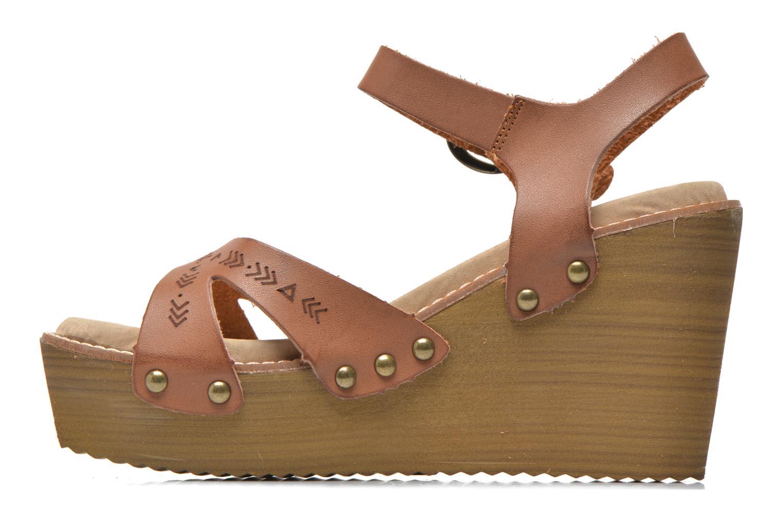 Sandales et nu-pieds Coolway Caleb Marron vue face
