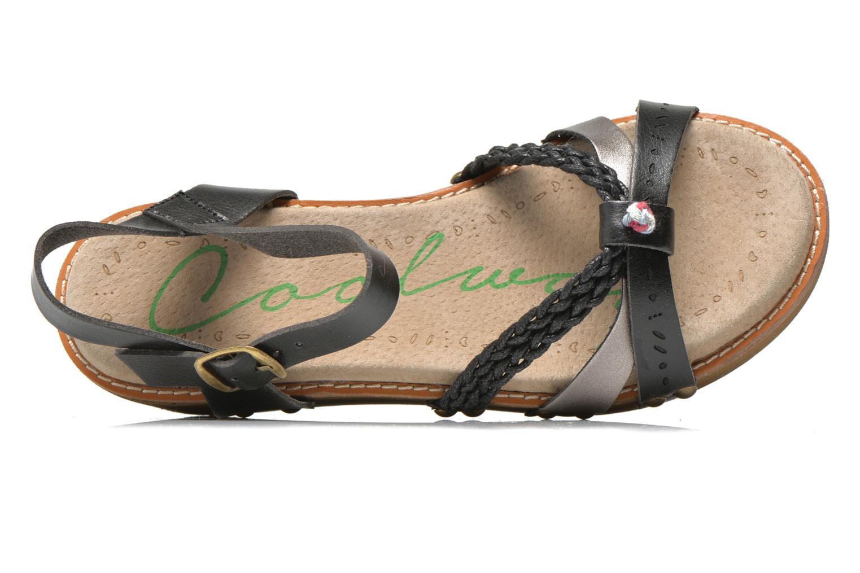 Sandales et nu-pieds Coolway Celine Noir vue gauche