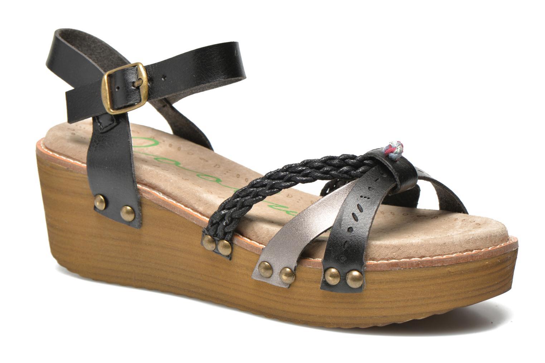 Sandals Coolway Celine Black detailed view/ Pair view