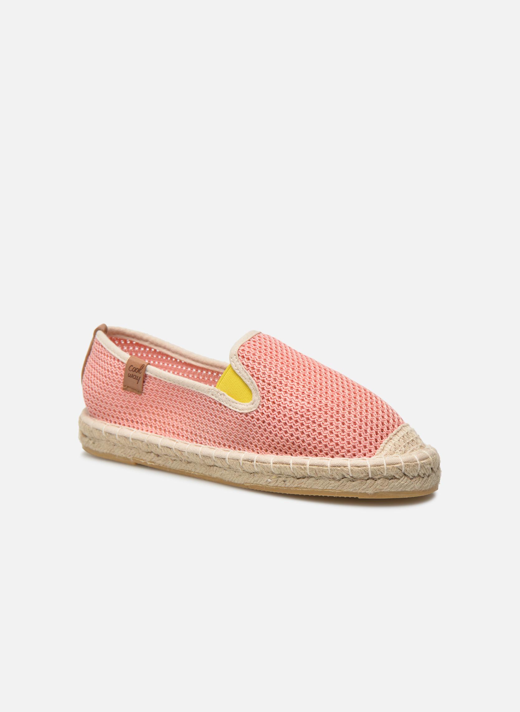Espadrillos Coolway Jaipur Pink detaljeret billede af skoene