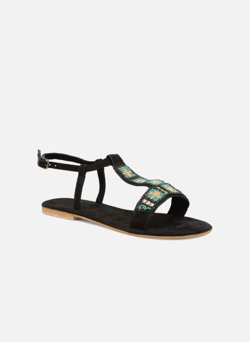 Sandals Coolway Maddy Black detailed view/ Pair view