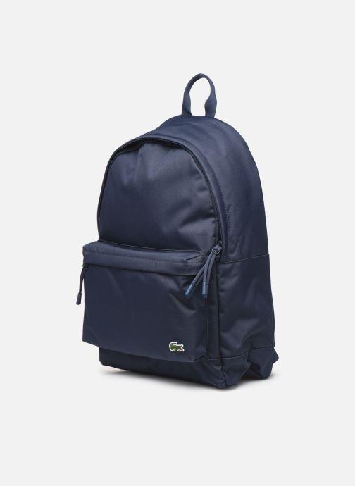 Sacs à dos Lacoste NEOCROC Backpack Bleu vue portées chaussures