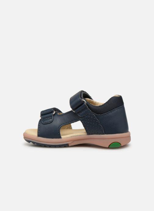 Sandaler Kickers Plazabi Blå se forfra