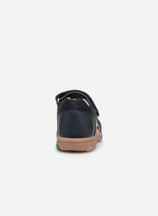 Sandales et nu-pieds Kickers Plazabi Bleu vue droite