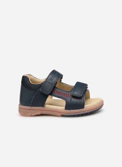 Sandaler Kickers Plazabi Blå se bagfra