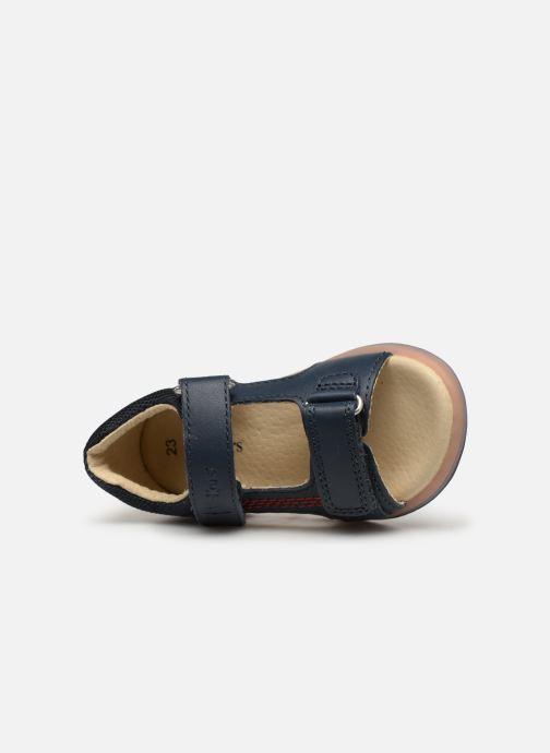 Sandaler Kickers Plazabi Blå se fra venstre