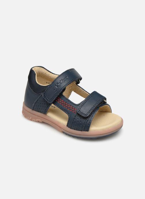 Sandaler Kickers Plazabi Blå detaljeret billede af skoene