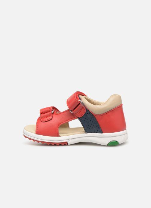 Sandales et nu-pieds Kickers Plazabi Rouge vue face