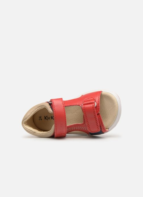 Sandales et nu-pieds Kickers Plazabi Rouge vue gauche