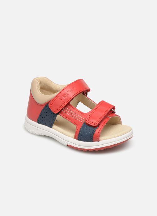 Sandales et nu-pieds Kickers Plazabi Rouge vue détail/paire