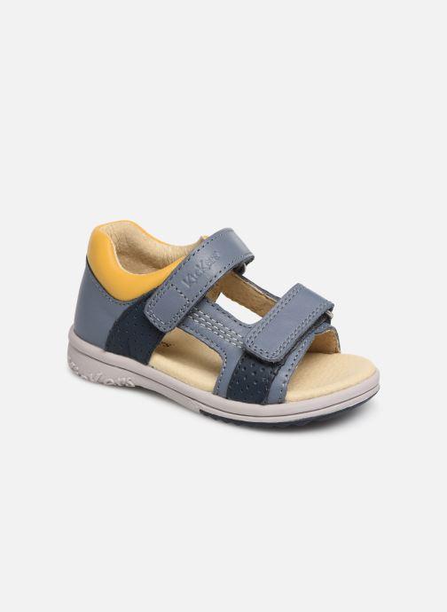 Sandales et nu-pieds Kickers Plazabi Bleu vue détail/paire
