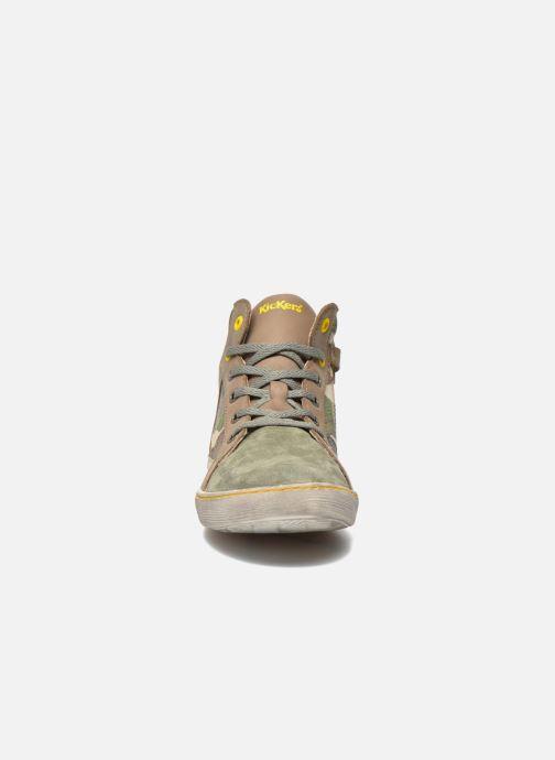 Baskets Kickers Lynx Vert vue portées chaussures