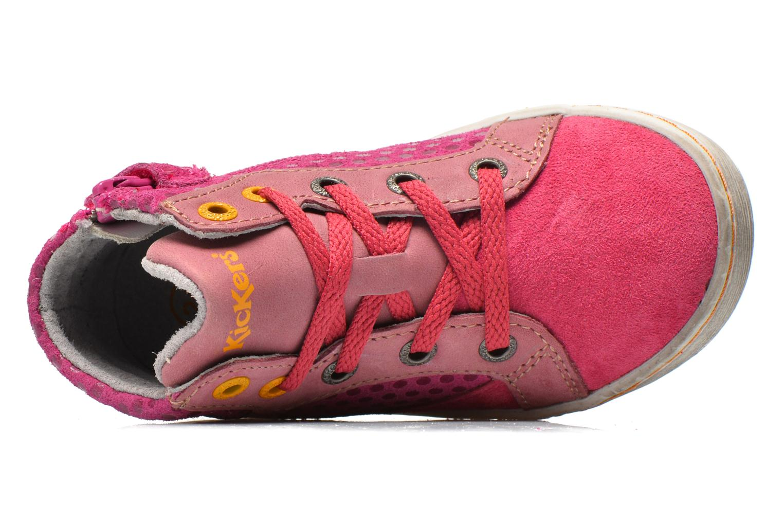 Sneakers Kickers Lynx Pink se fra venstre