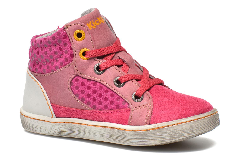 Sneakers Kickers Lynx Pink detaljeret billede af skoene