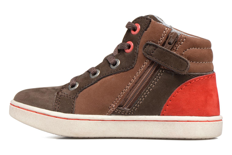 Sneakers Kickers Lynx Brun se forfra