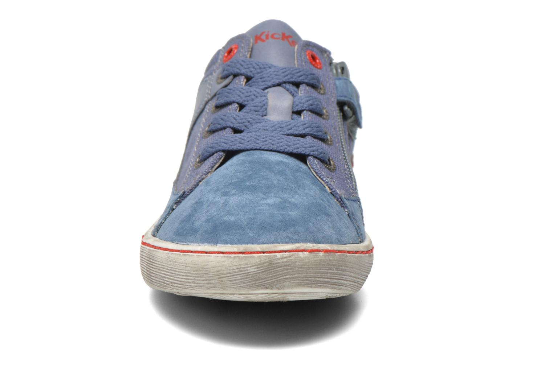Baskets Kickers Lylian Bleu vue portées chaussures