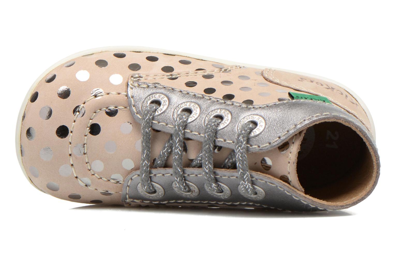 Bottines et boots Kickers Bonbig Beige vue gauche