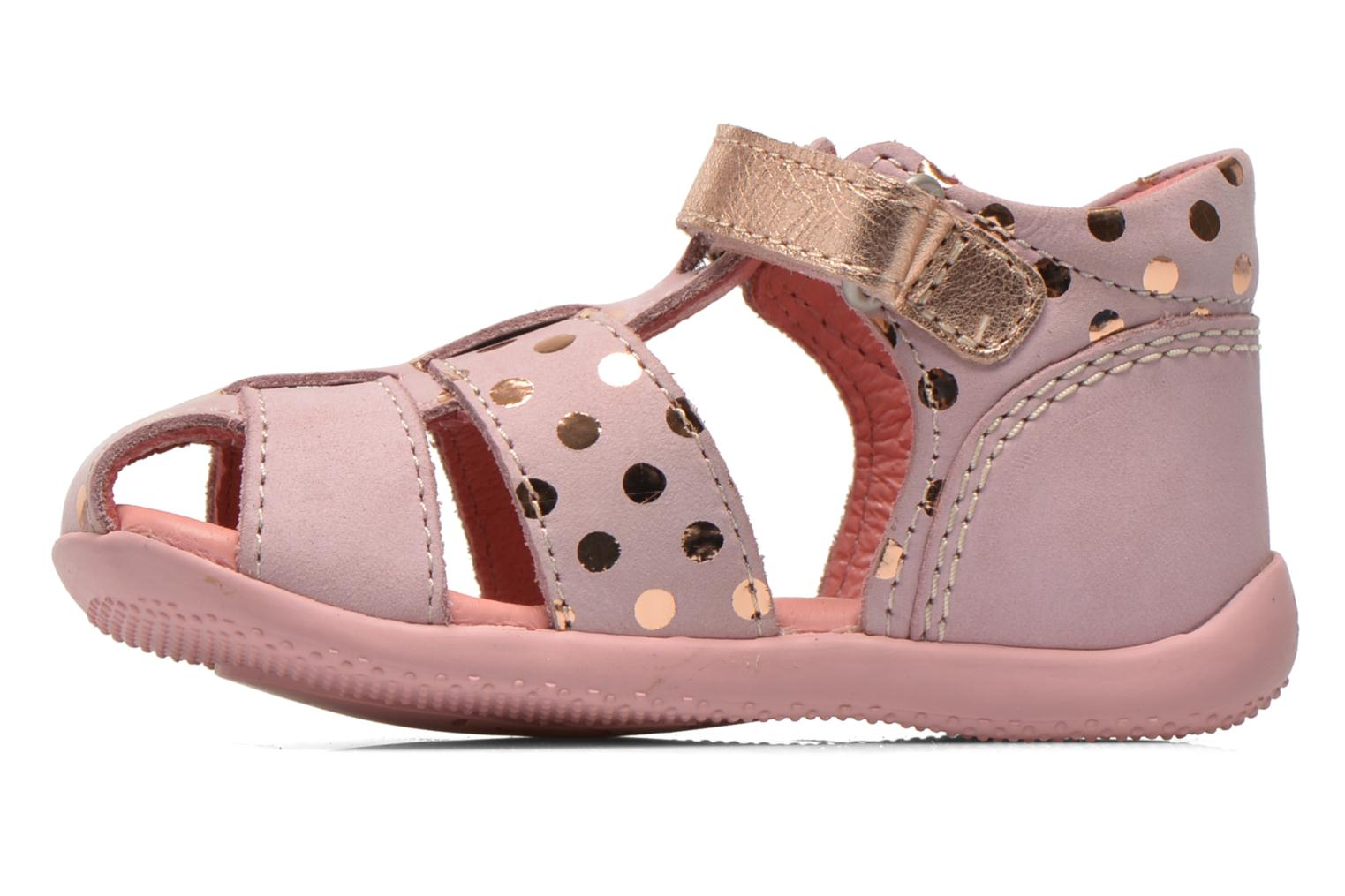 Sandalias Kickers Biggy Rosa vista de frente