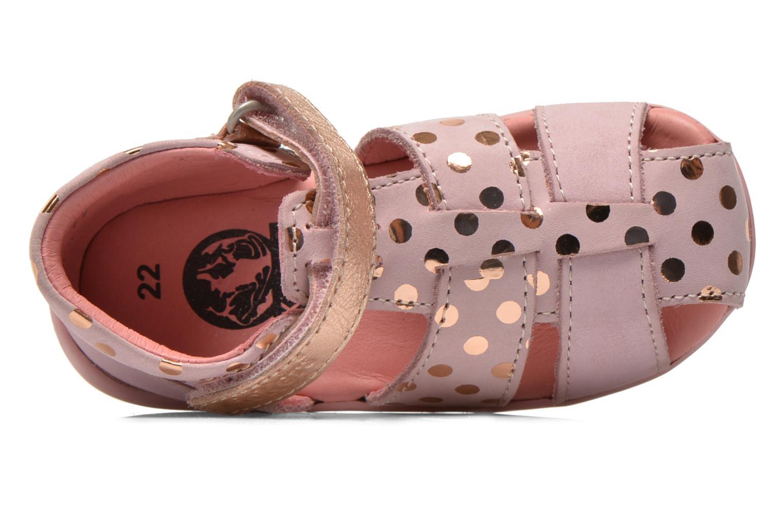 Sandaler Kickers Biggy Pink se fra venstre